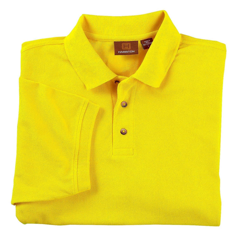 Harriton Men's Short Sleeve Polo, Sunray Yellow