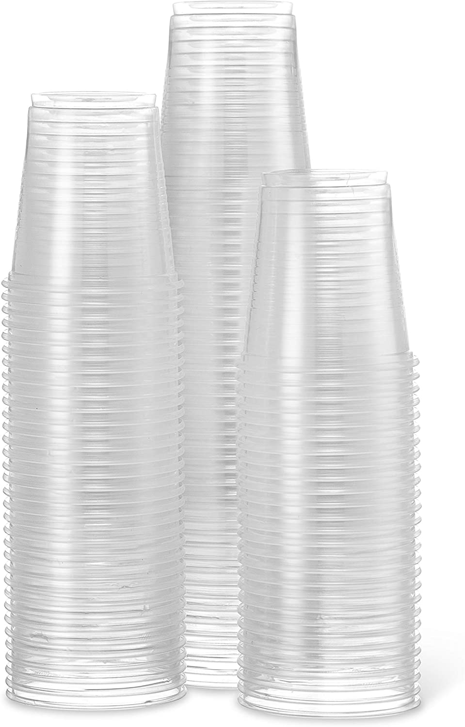 [300 Cups] Settings 3 Oz Clear Plastic Disposable Reusable Cups For Drinking, Bathroom, Rinsing, Tests, Medication, Party, Home, Office, Water, Juice, 3 Packs