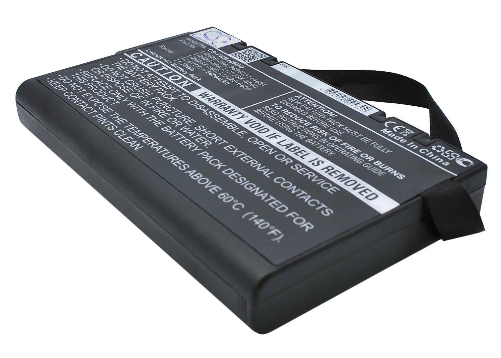 vintrons Replacement Battery For PHILIPS 989803144631,Li202S-60A,LI202S-6600,LI202S-66A,LI202SX-6600
