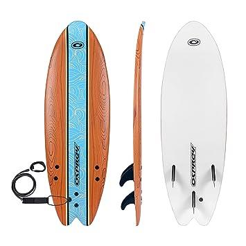 Osprey Suave Top Principiantes 5 ft 8 en Poco Madera Foamie Tabla de Surf: Amazon.es: Deportes y aire libre