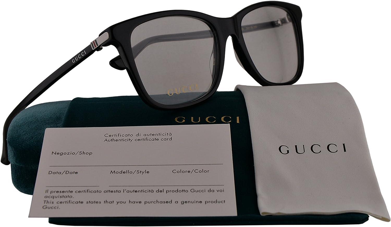 Gucci GG0018O Anteojos 54-18-140 005 GG 0018O hombre Negro Grande: Amazon.es: Ropa y accesorios
