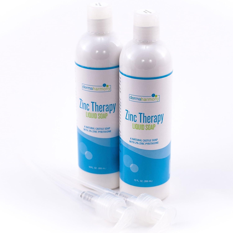 Amazon.com: DermaHarmony 2% Pyrithione Zinc (ZnP) Liquid Castile Soap (Two  12 Fl Oz Bottles): Beauty