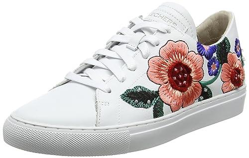 Vaso-Flor, Zapatillas para Mujer, Negro (Black Leather), 37.5 EU Skechers