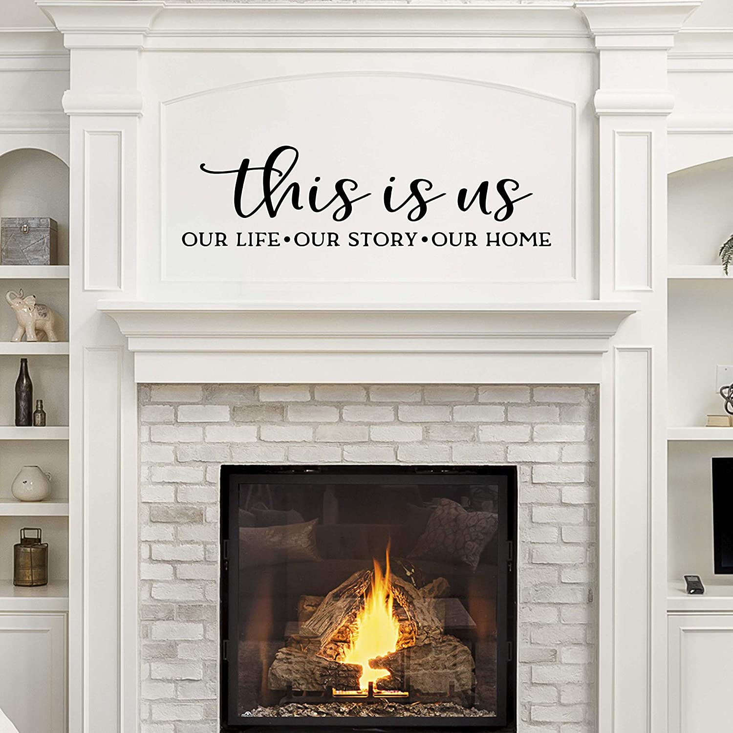 Vinyl Quote Me This is Us Wall Decor Decal Sticker | Living Room Decals | Family Wall Sticker | 22x6-Black