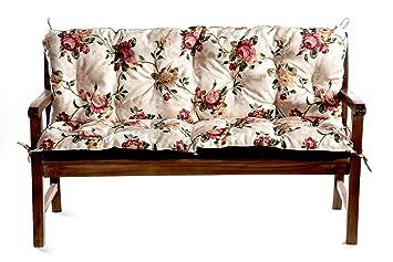 Bankauflage Bankkissen Sitzkissen 150x60x50 (Blumen)