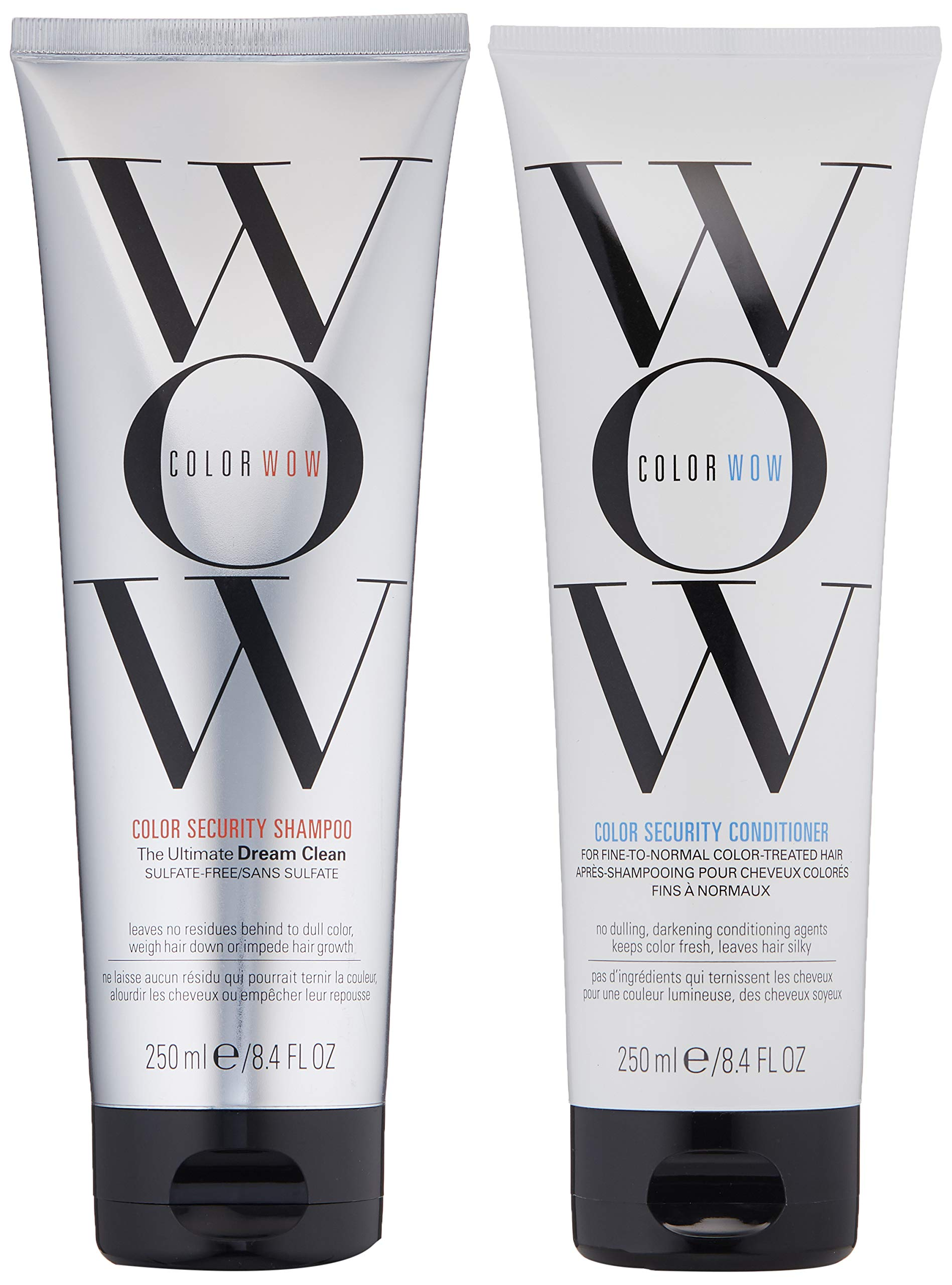 COLOR WOW Color Security Shampoo and Conditioner, Fine to Normal Hair, Duo Set, Sulfate free, for Color Treated Hair, Color Safe, 8.4 fl. oz. by COLOR WOW