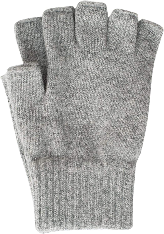 Foster-Nature Gants pour homme sans doigts 100/% laine