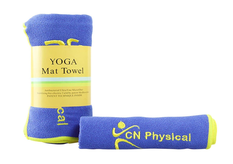 Premium antideslizante Yoga Mat Toalla, grande 24 x 72 inch ...