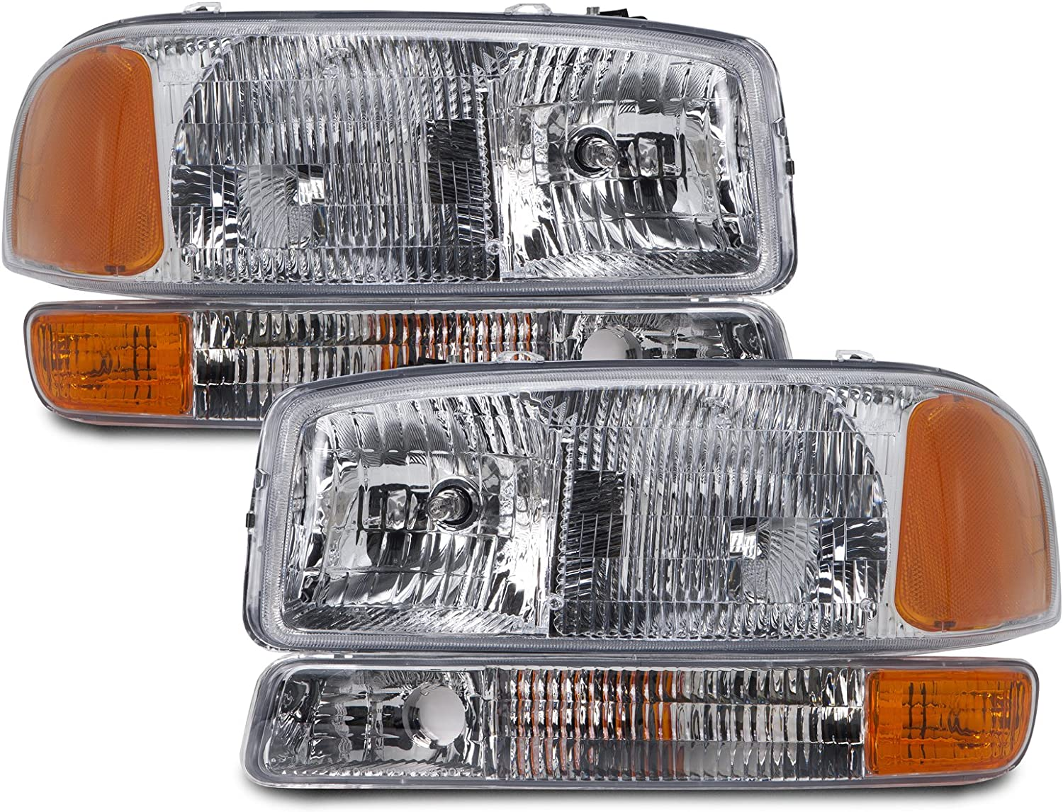 Headlights Depot Replacement for GMC Sierra//Yukon Park Signal Light OE Style Replacement Driver//Passenger Pair