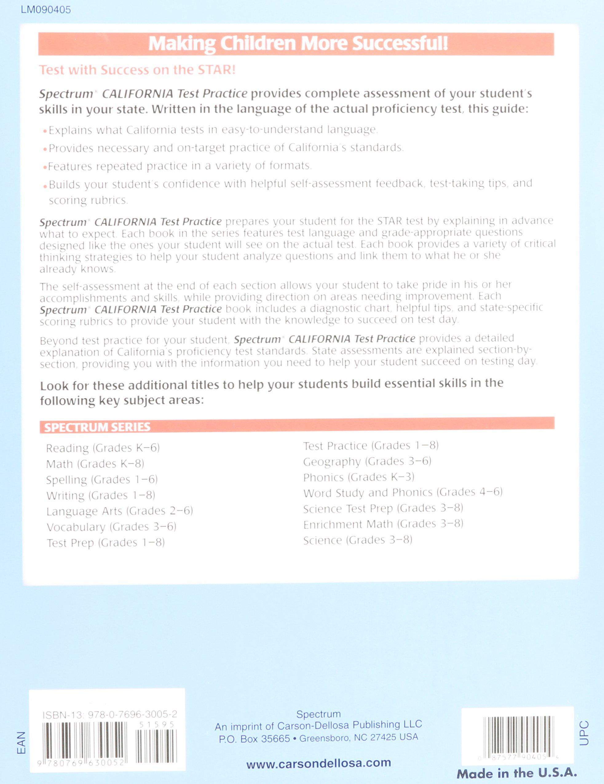 Spectrum State Specific: California Test Practice, Grade 5