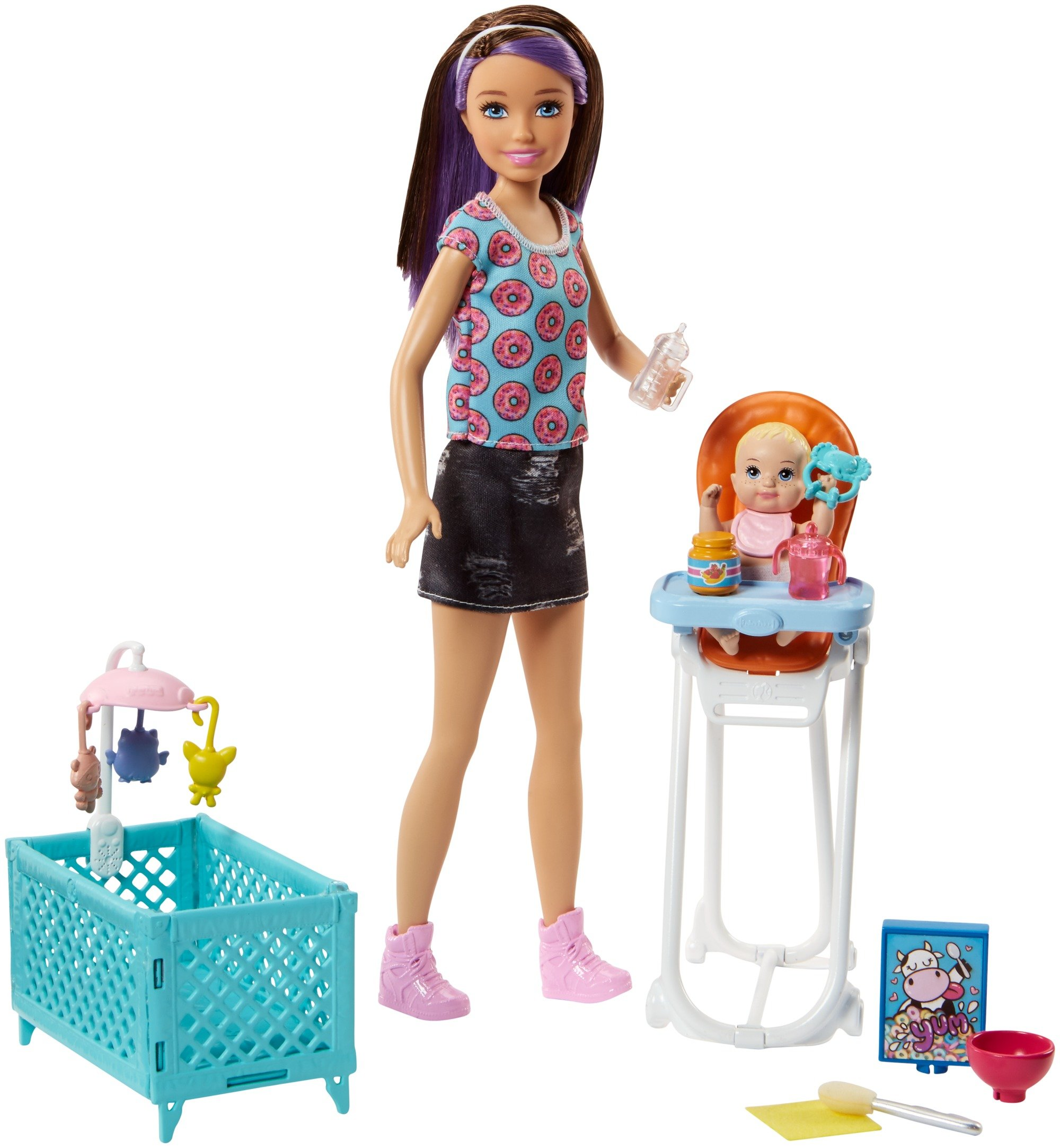 Barbie Skipper Babysitters Inc. Doll and Feeding Playset by Barbie (Image #1)