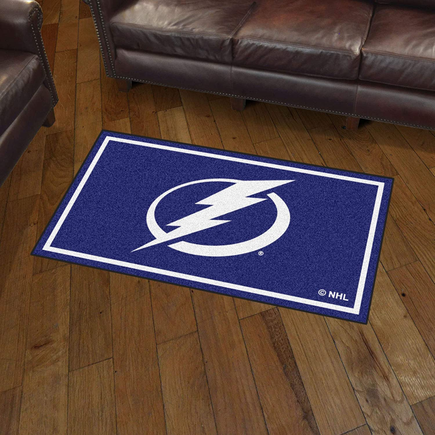 Area Rug Area RUG3 Ft Blue x 5 Ft x 5 Ft FANMATS NHL Tampa Bay Lightning 3 Ft 3 x 5
