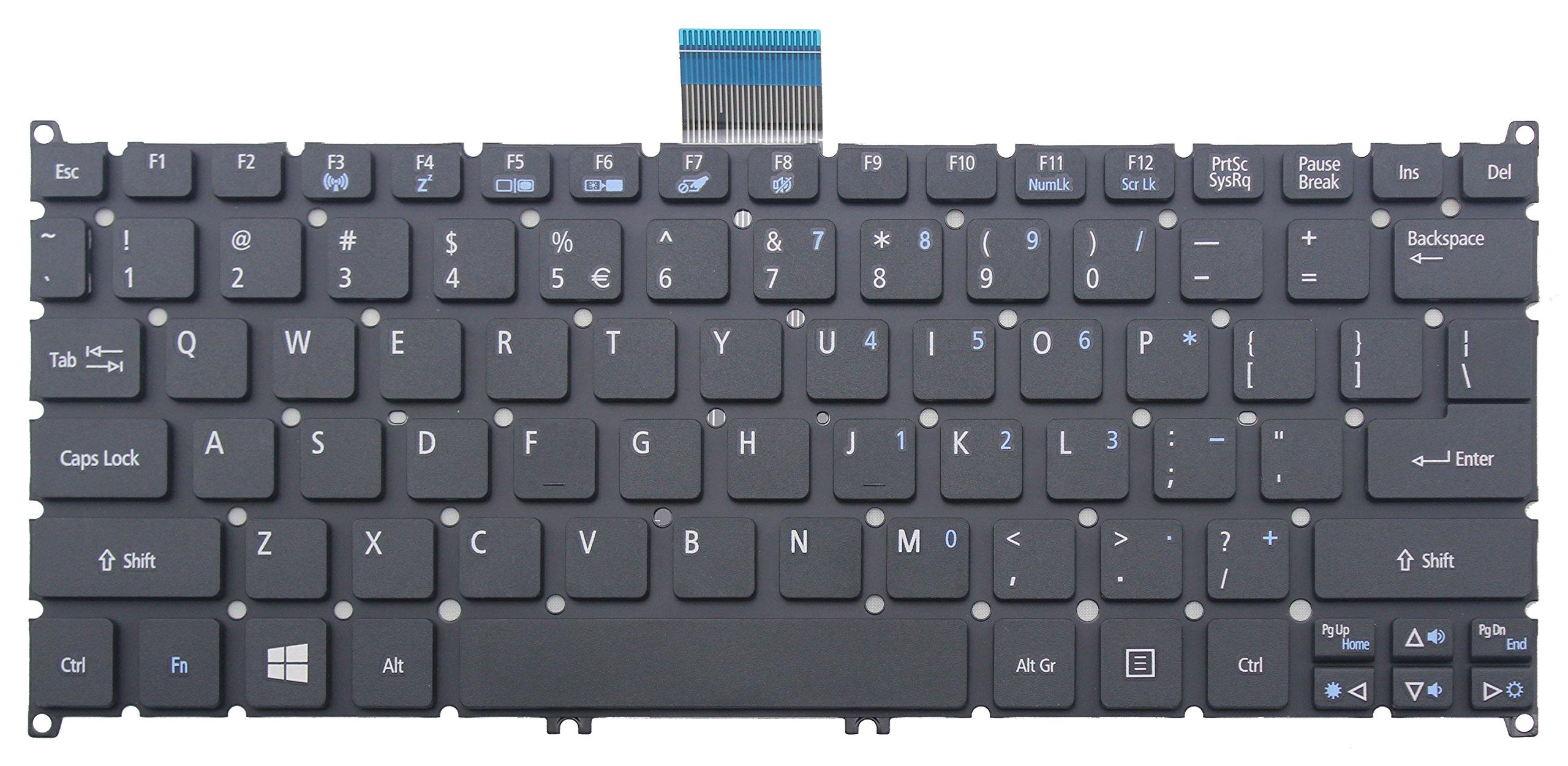 CHNASAWE Laptop US Keyboard without Frame for Acer TravelMate B113-E B113-M