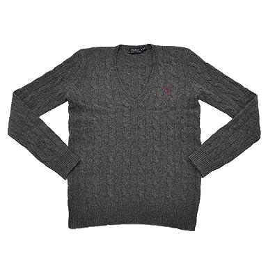 Polo Ralph Lauren para mujer lana de oveja merina Jersey: Amazon ...