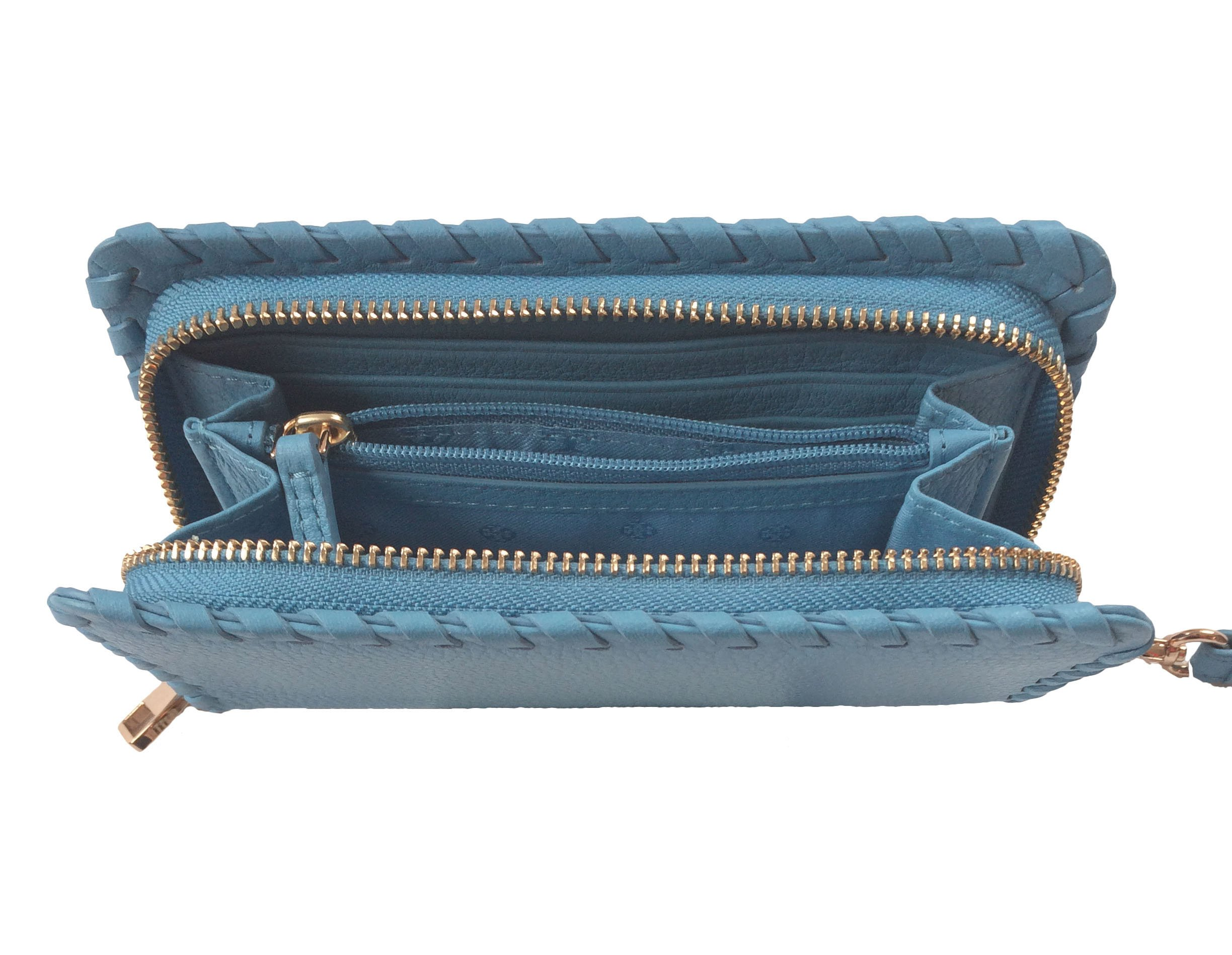 Tory Burch Marion Leather Smartphone Wristlet (Montego Blue) by Tory Burch (Image #4)