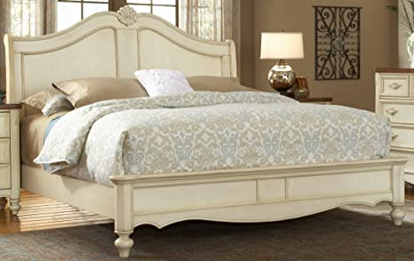 American Woodcrafters 3501-50SLE Chateau Sleigh Bed, Queen, White