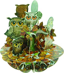 Santoro Pirouettes Parliament of Owls 3D Pop Up Card