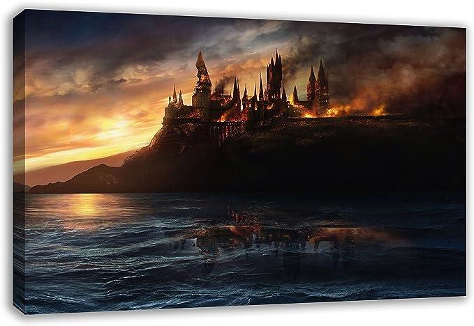 Dynamo Printing Ltd Harry Potter Hogwarts Escuela en Llamas Lienzo ...