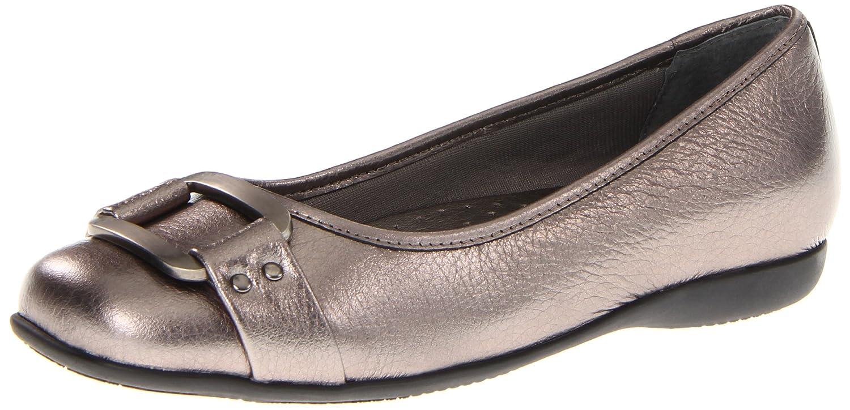 Trotters Women's Sizzle Signature Ballet Flat B0073E6MJY 11 XW US|Metallic Pewter