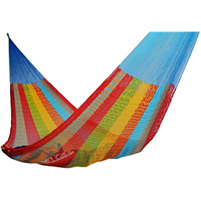 Handmade Hammocks - Hammocks Rada Handmade Yucatan Hammock - Artisan Crafted in Central America - Fits Most 12 Ft. - 13 Ft. Stands - Carries Up to 330 Lbs. - Single Size : Garden & Outdoor