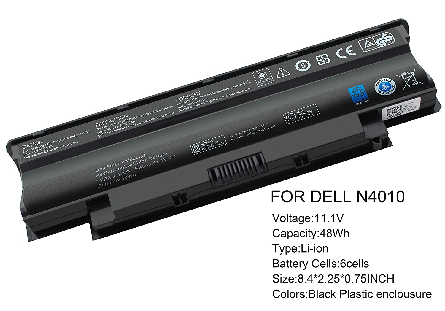 amazon com gomarty 6 cell j1knd battery for dell inspiron n5010
