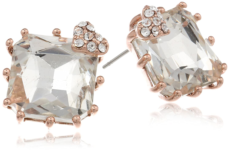 Betsey JohnsonIconic Baguette Square Crystal Gem Stud Earrings B07680-E03
