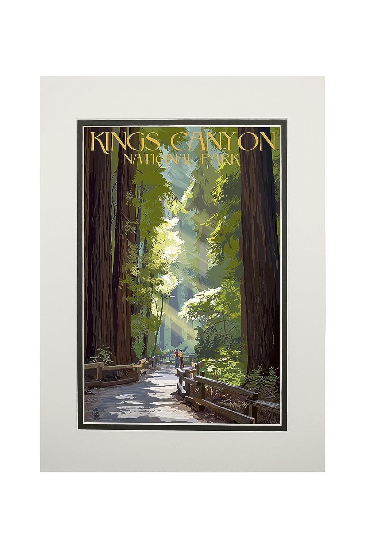 【翌日発送可能】 Kings Mug Canyon国立公園、カリフォルニア Art – Pathwayとハイカー 15oz Mug LANT-3P-15OZ-WHT-36992 B06XZTV5TF 11 11 x 14 Matted Art Print 11 x 14 Matted Art Print, トノショウチョウ:40716130 --- podolsk.rev-pro.ru