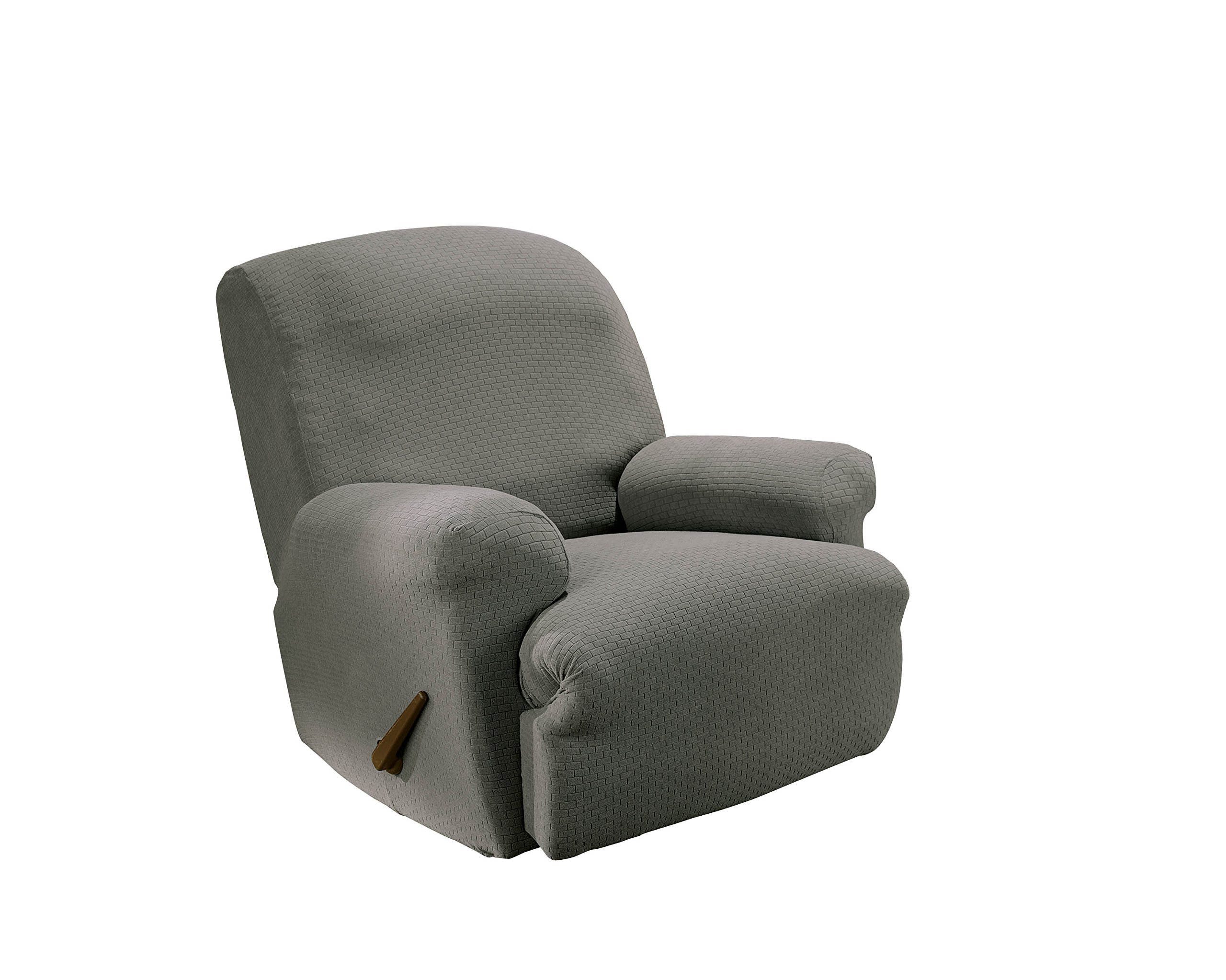SureFit Simple Stretch Subway - Recliner Slipcover  - Gray (SF44601) by Surefit