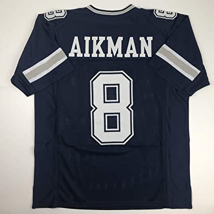 new concept 14451 23fcc Amazon.com: Unsigned Troy Aikman Dallas Dark Blue Custom ...