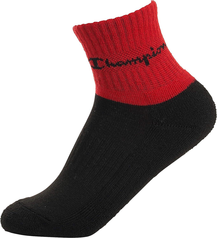 Champion Kids 6 Pack All Over Stripe Quarter Sock