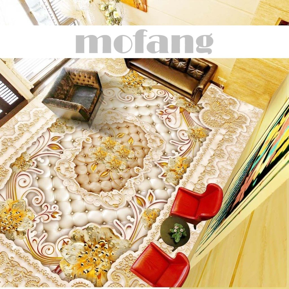 ZLJTYN 270cmX180cm 3D Floor Wallpaper European-style Luxury Modern Gold 3D Wallpaper For Ceiling Custom Size Wallpaper by ZLJTYN (Image #3)