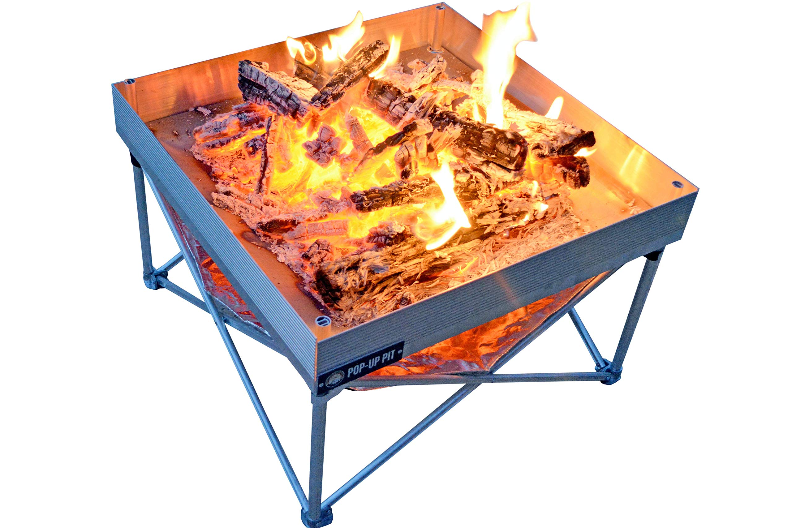 Campfire Defender Protect Preserve Pop-Up Fire Pit | Portable and Lightweight | Fullsize 24 Inch | Never Rust FirePit | Included Heat Shield for Leave No Trace Fires (Pop-Up Fire Pit + Heat Shield) by Campfire Defender Protect Preserve