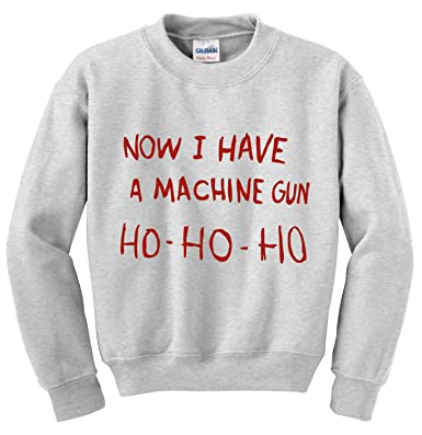 now i have a machine gun ho ho ho die hard inpired christmas jumper t