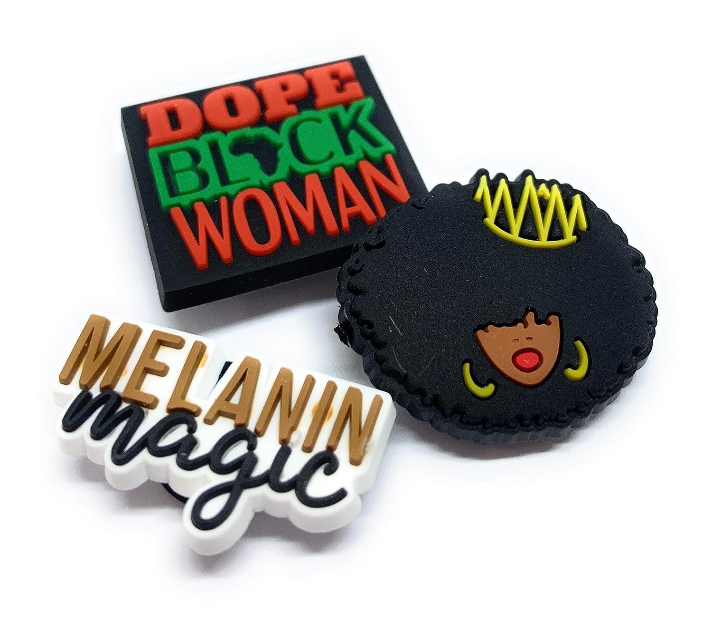 BLACK LIVES MATTER Black Girl Magic BGM Style Shoe Charm-I can not Breathe Soft PVC Shoes Charm JIBZ for Croc Shoe Charm Black Lives Matter fist BGM BLM Africa African