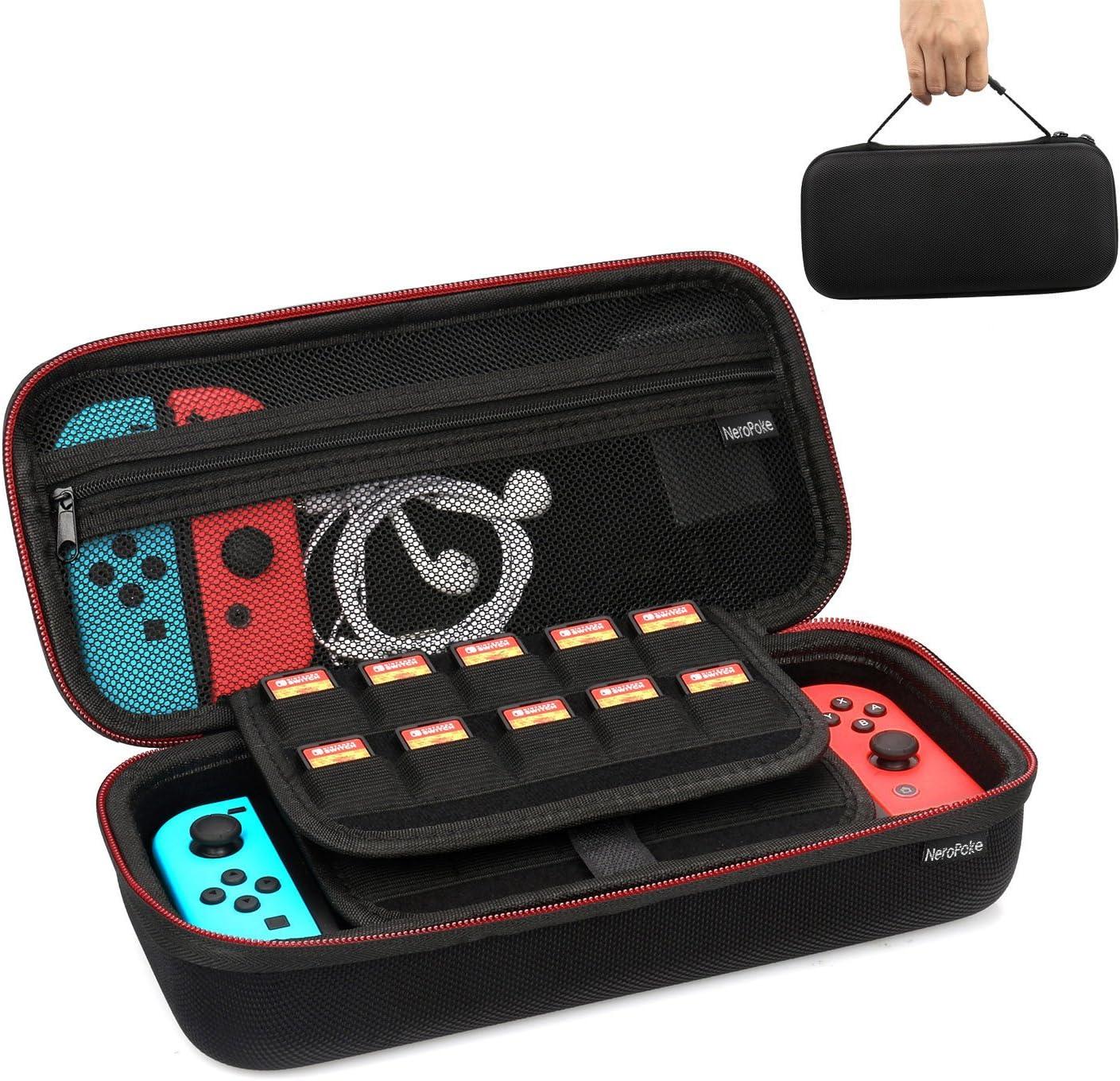 Neropoke Funda para Nintendo Switch Game Traveler Deluxe Case Protectora dura portátil de viaje Carry Case para Juegos de consola Joy-Con y Nintendo Switch Accesorios: Amazon.es: Electrónica