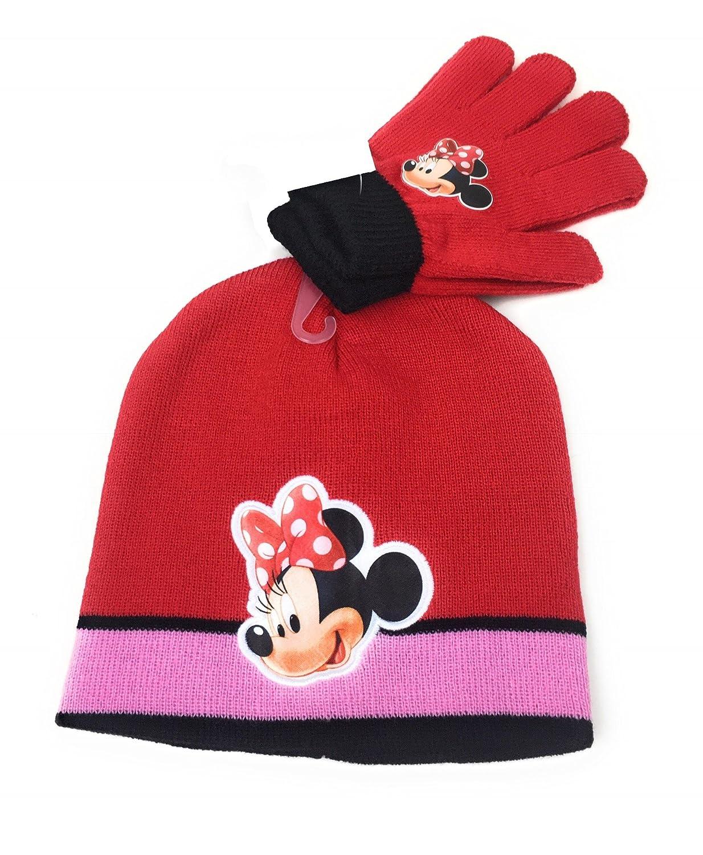 8ba49336bd58 Caliente de la venta Minnie - Set de gorro y guantes - para niña Rojo rojo