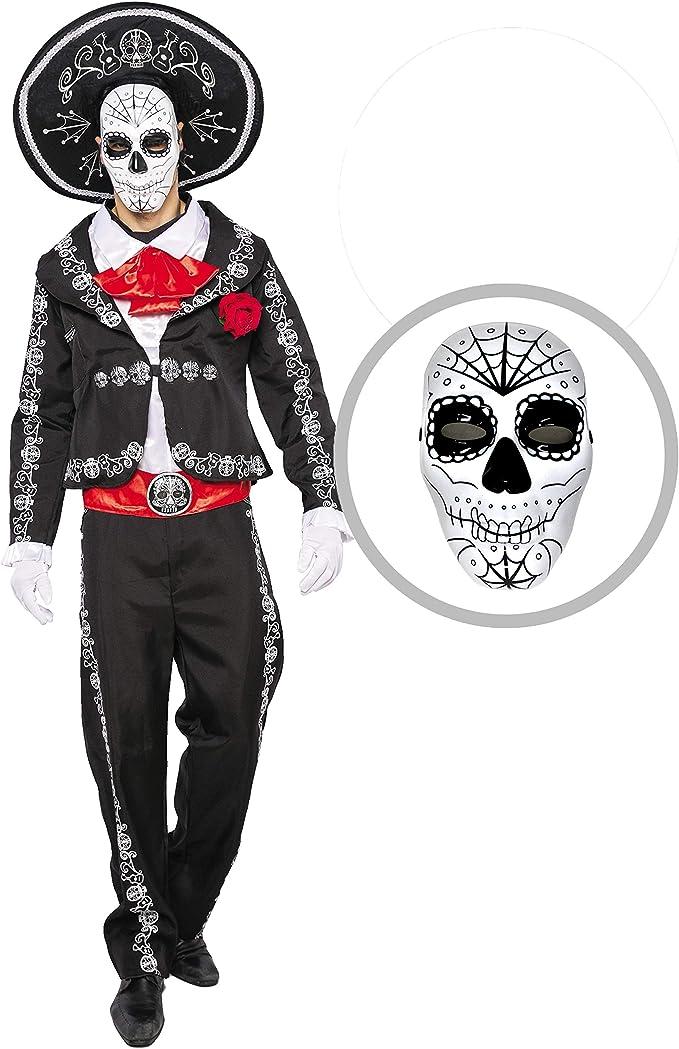 Giorno dei morti Mask-Qualità Superiore ITALIANA fatta da Uomo Masquerade Maschera