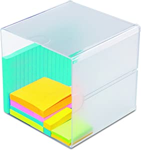 deflect-o 350401 Desk Cube, Clear Plastic, 6 x 6 x 6 Inches
