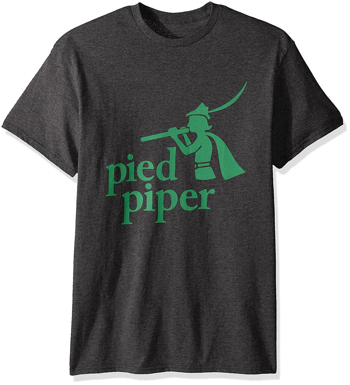 Silicon Valley Men's Original Piper Logo T-Shirt, Premium Charcoal Heather, X-Large