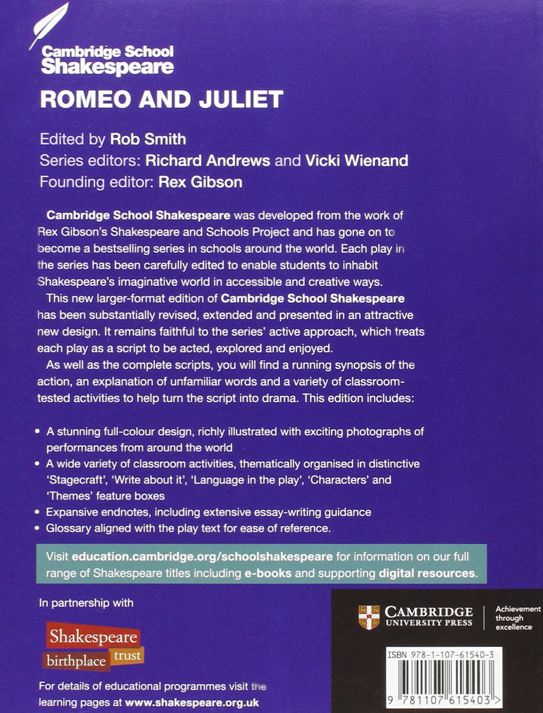 romeo and juliet cambridge school shakespeare amazon co uk romeo and juliet cambridge school shakespeare amazon co uk william shakespeare rex gibson robert smith richard wienand vicki wienand books