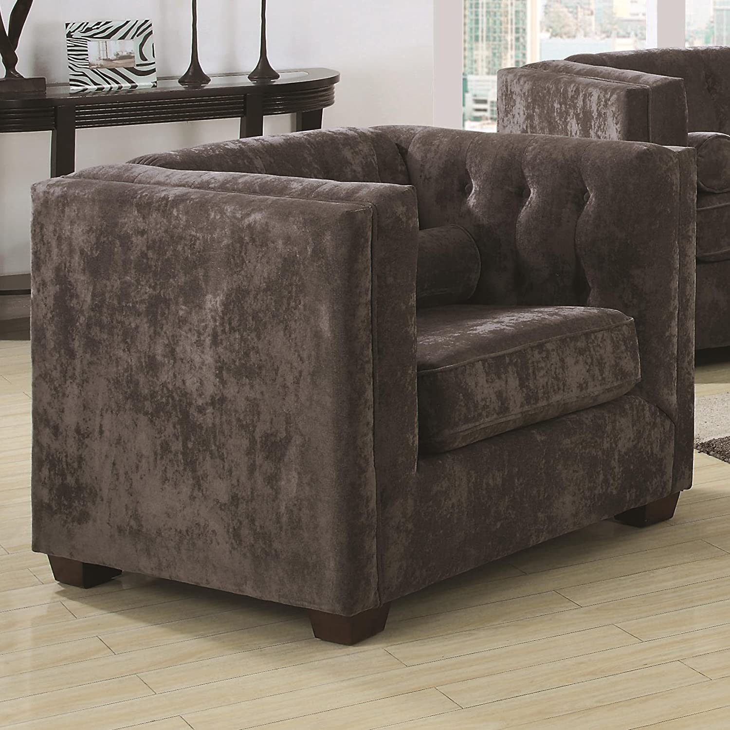Amazon Coaster Home Furnishings Transitional Chair Charcoal