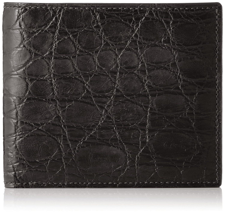 [セパージュ] 財布 ワニ革 二つ折り財布 カードポケット付き 小銭入れなし 紳士用 日本製 CPAA003NT B01L6QH1IUブラック
