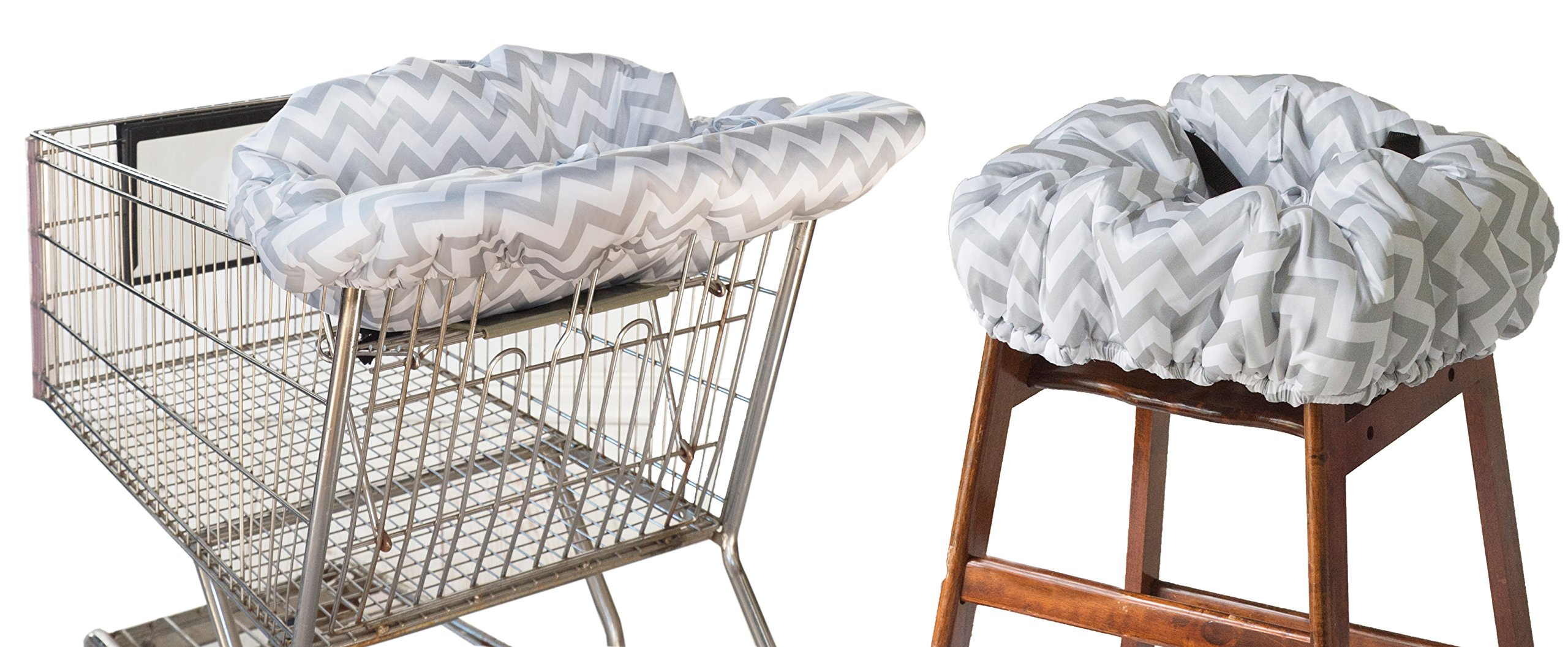 Itzy Ritzy Ritzy Sitzy Shopping Cart & High Chair Cover (C. Grey Chevron) by Itzy Ritzy (Image #1)