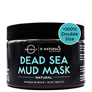 O Naturals Best Acne Treatment Pore Reducing Dead Sea Mud Mask for Face & Body. Oily Skin Blackhead Remover Vacuum, Deep Pore Cleansing & Minimizer Healing Exfoliating Tightens Skin. w/Aloe Vera 18oz