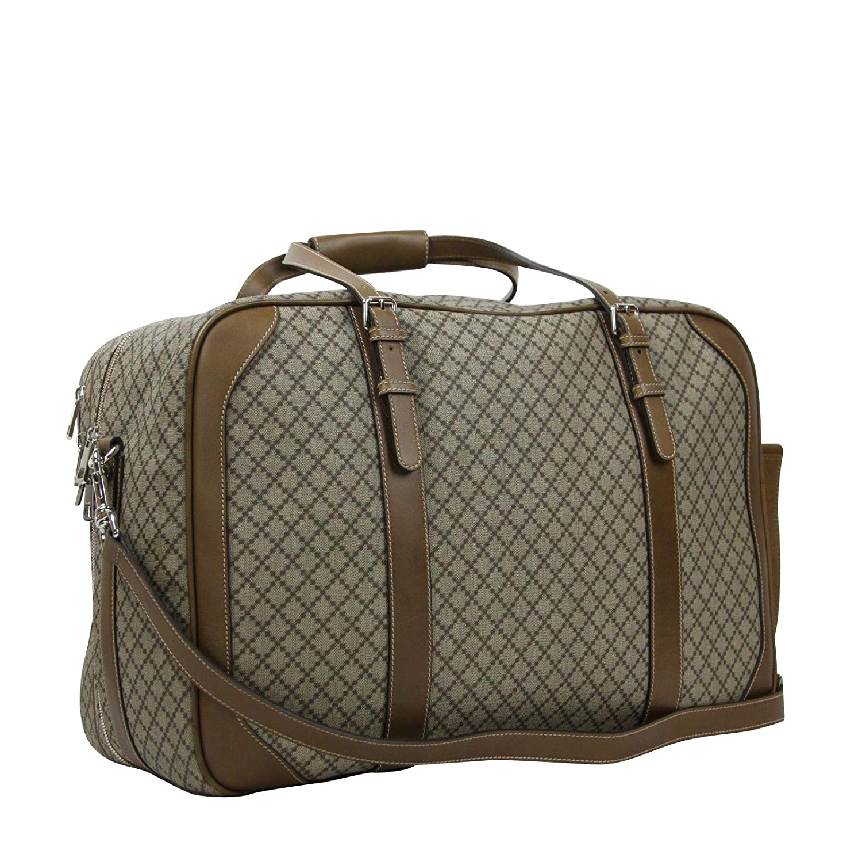 78bf353d4 Amazon.com | Gucci Unisex Diamante Plus Beige Coated Canvas Travel Bag  267905 9788 | Travel Totes