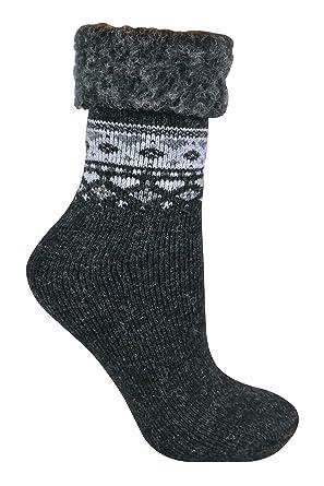 Sock Snob Mujer termicos calientes lana calcetines estar por casa y para dormir con nordicos diseño