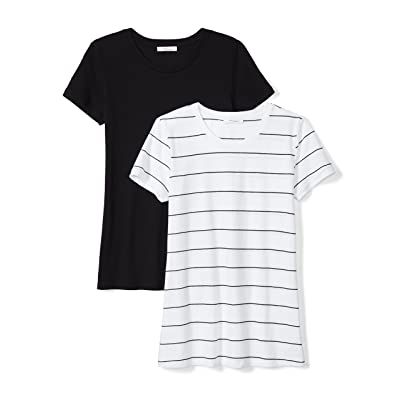Brand - Daily Ritual Women's Featherweight Cotton Short-Sleeve Crew Neck T-Shirt: Clothing