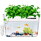VIVOSUN Aquaponic Fish Tank Hydroponic Cleaning Tank Fish Feeds Plants and Plants Clean Tank