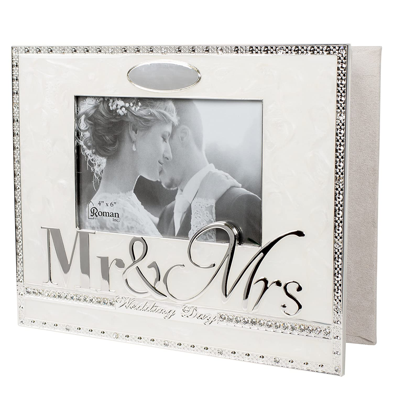 and Mrs 8.5 x 10 inch Zinc Alloy Keepsake Photo Album Wedding Day Mr