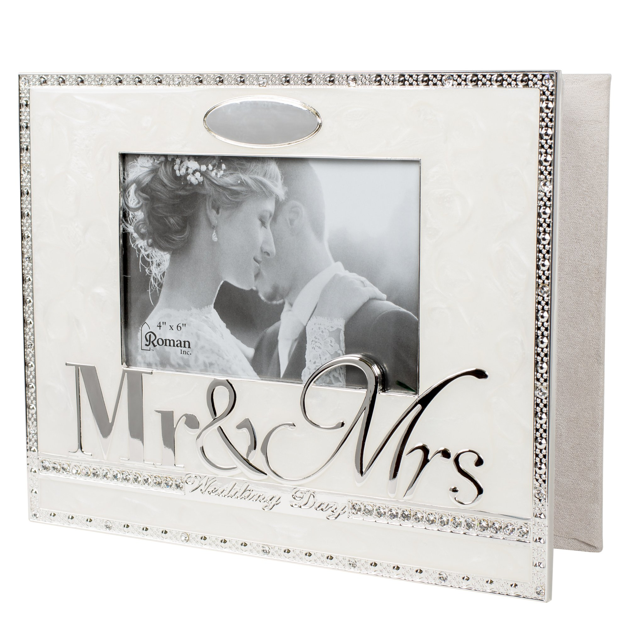 Wedding Day Mr. and Mrs. 8.5 x 10 inch Zinc Alloy Keepsake Photo Album